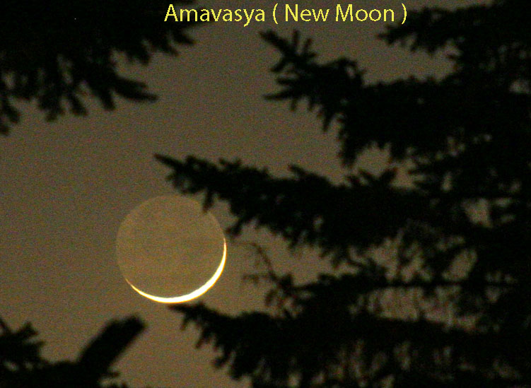 Vedic Astrology Lesson 37,eastrovedica.com,hindu astrology software, research and consultancy, amavasya, new moon