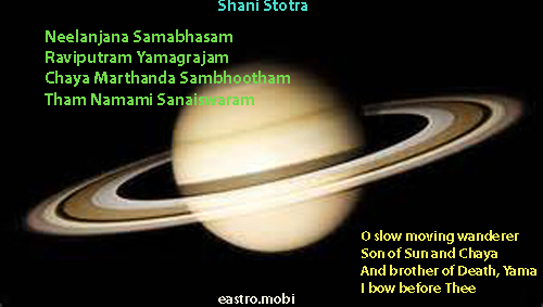 planetary mantras eastrovedica, hindu astrology software, consultancy and research, shani stotra